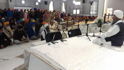 Sant Baba Amir Singh ji Mukhi Jawaddi taksal at Canada tour 2018 (2)