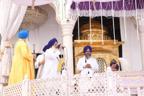 Sant Baba Sucha Singh ji honoured from Akal Takhat Sahib, award received by Sant Baba Amir Singh ji (24)
