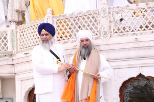 Sant Baba Sucha Singh ji honoured from Akal Takhat Sahib, award received by Sant Baba Amir Singh ji (47)
