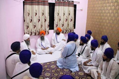 Takhat Sachkhand Sri Hazoor Sahib, Vikhe Darshan karde hoye Sant Baba Amir Singh ji Mukhi Jawaddi Taksal (1)