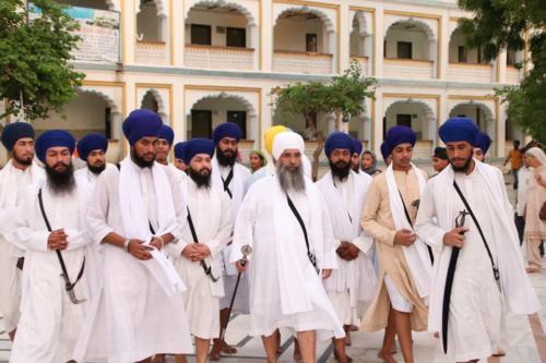 Takhat Sachkhand Sri Hazoor Sahib, Vikhe Darshan karde hoye Sant Baba Amir Singh ji Mukhi Jawaddi Taksal (10)