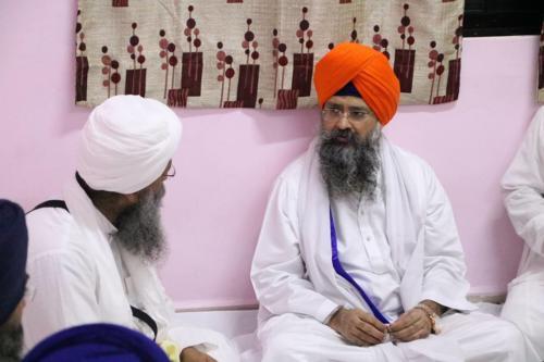 Takhat Sachkhand Sri Hazoor Sahib, Vikhe Darshan karde hoye Sant Baba Amir Singh ji Mukhi Jawaddi Taksal (2)