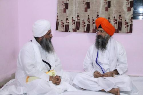 Takhat Sachkhand Sri Hazoor Sahib, Vikhe Darshan karde hoye Sant Baba Amir Singh ji Mukhi Jawaddi Taksal (3)