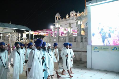 Takhat Sachkhand Sri Hazoor Sahib, Vikhe Darshan karde hoye Sant Baba Amir Singh ji Mukhi Jawaddi Taksal (4)