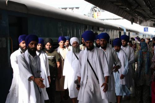 Takhat Sachkhand Sri Hazoor Sahib, Vikhe Darshan karde hoye Sant Baba Amir Singh ji Mukhi Jawaddi Taksal (7)