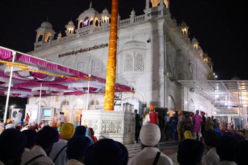 Takhat Sachkhand Sri Hazoor Sahib, Vikhe Darshan karde hoye Sant Baba Amir Singh ji Mukhi Jawaddi Taksal (8)